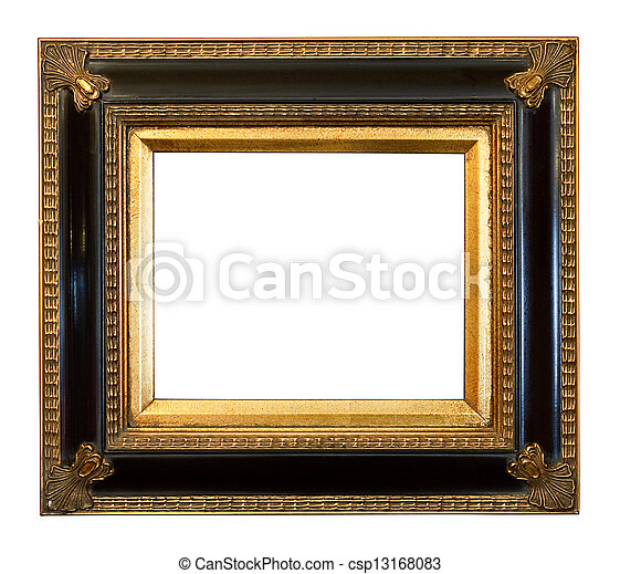 old antique Gilded Picture Frame - csp13168083