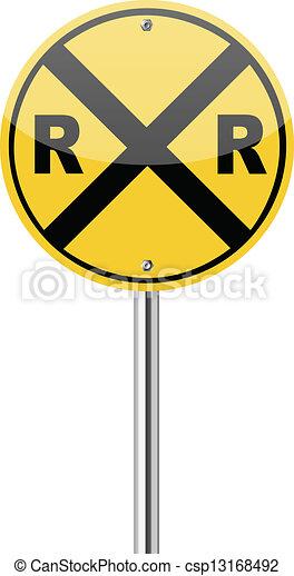 Railroad Crossing Clip Art EPS Vectors of Railroa...