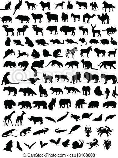 100 animals - csp13168608