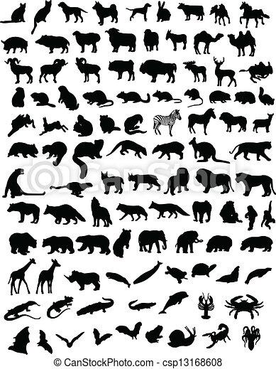 100 animals - csp13168608