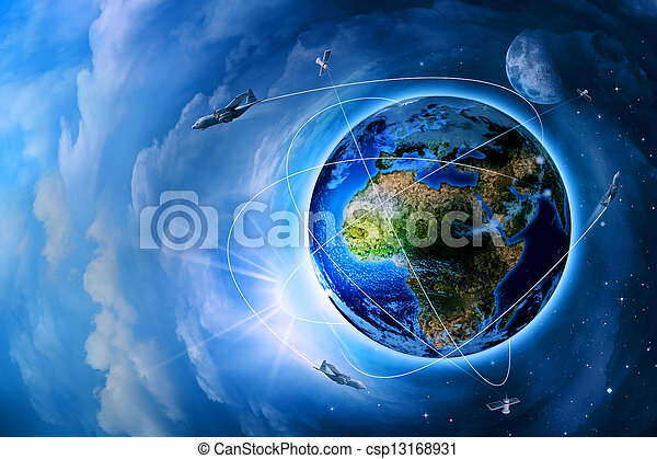 Space transportation and technologies in the future, abstract backgrounds - csp13168931