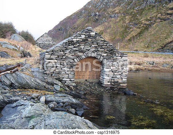 Imposing boat house - csp1316975