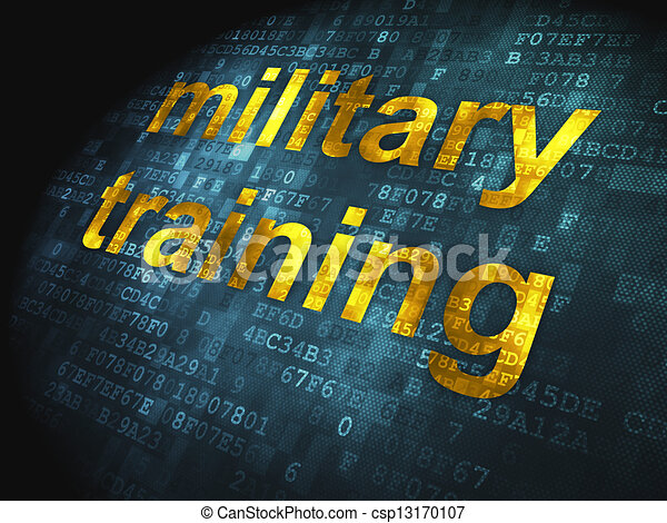 Education concept: Military Training on digital background - csp13170107