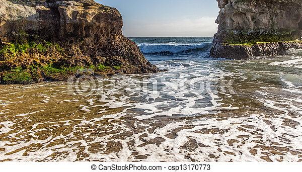 Waves at Natural Bridges State Beach - csp13170773