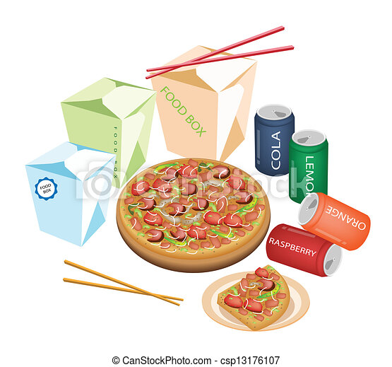 Delivery Food For Take Away to Home - csp13176107