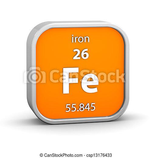 Iron material sign - csp13176433
