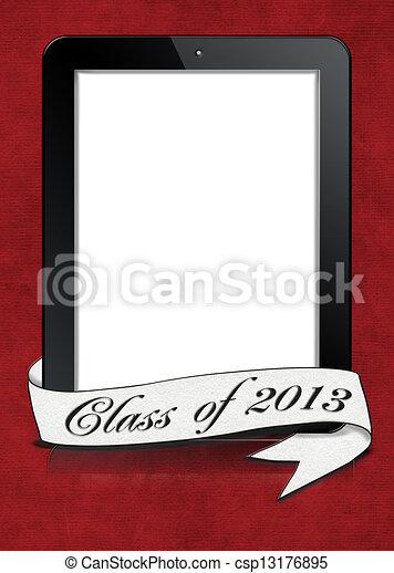 graduation 2013 banner on tablet - csp13176895
