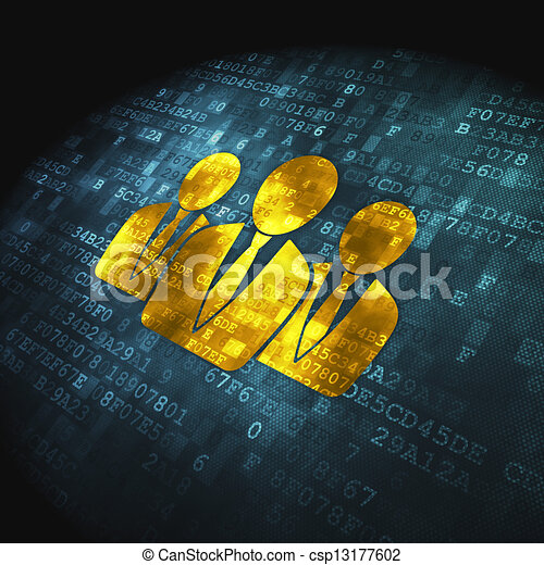 Law concept: Business People on digital background - csp13177602