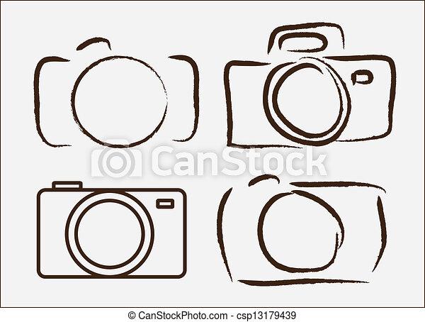 Camera Drawings Vector Photographic Camera