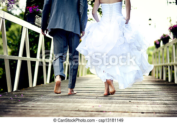 vacker, par, bröllop - csp13181149