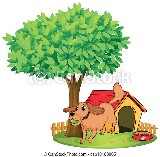 Picture Of Dog Barking Up A Tree