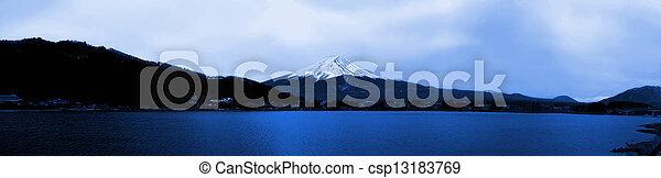 Panorama view of mountain Fuji Japan - csp13183769