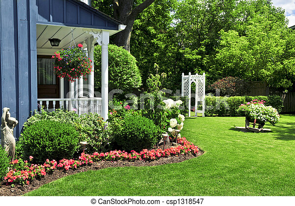 Front yard of a house - csp1318547
