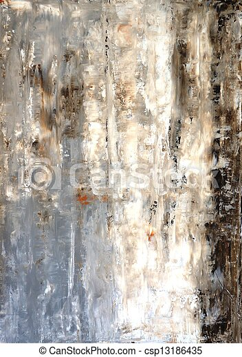 Grey and Brown Abstract Art
