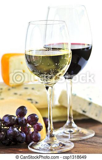 Wine and cheese - csp1318649