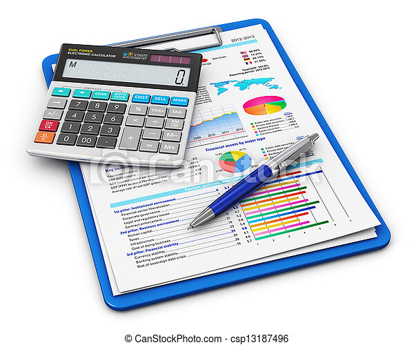 Business finance and accounting concept - csp13187496