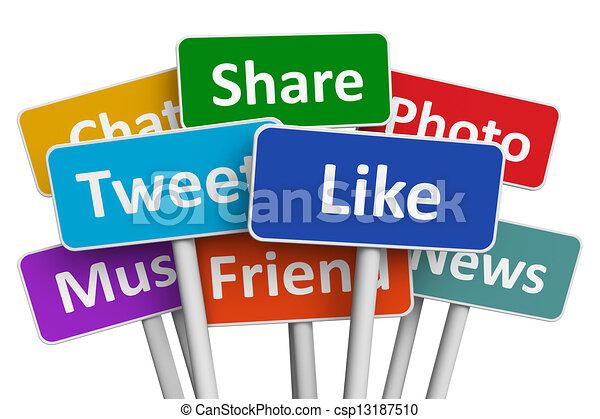 Social media concept - csp13187510