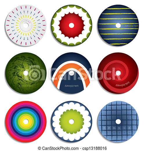 Vector Clip Art of CD & DVD label design 2 - Various CD & DVD ...