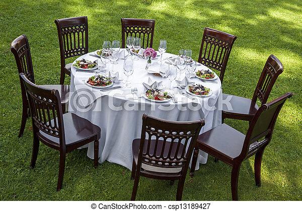 Dinner table - csp13189427