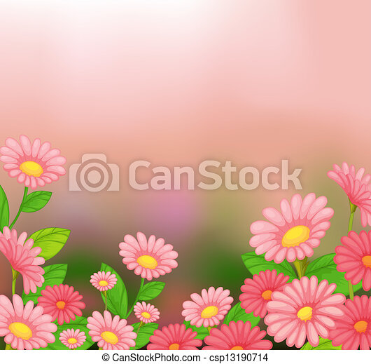 A view of the beautiful pink flowers - csp13190714