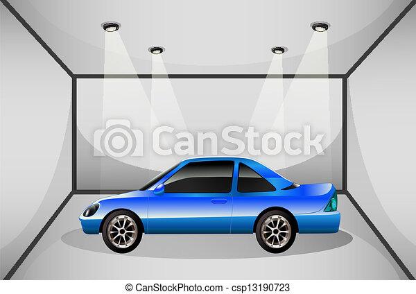 Illustration vecteur de a bleu teint voiture for Acheter une voiture belge dans un garage francais