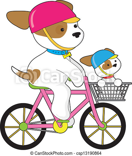 Cute Couple On Motorcycle Clip Art
