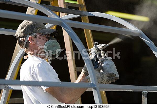 Spray Painter Man - csp13193595