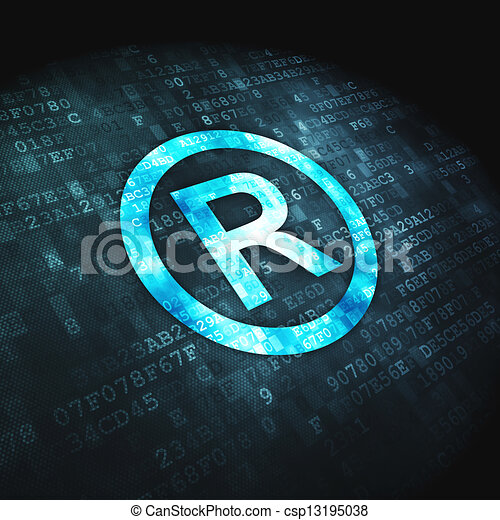 Law concept: Registered on digital background - csp13195038