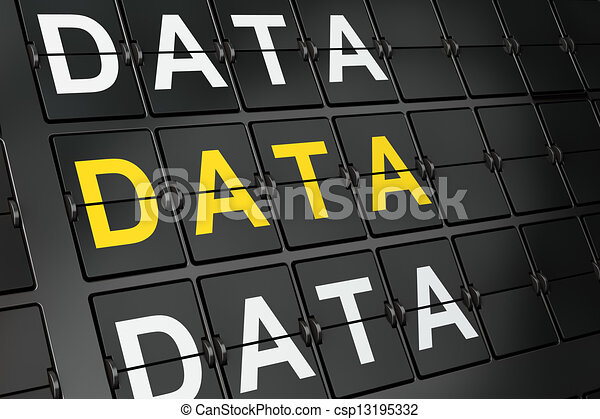 Data concept: Data on airport board - csp13195332