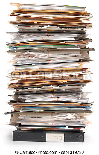 Stack of Documents - csp1319730