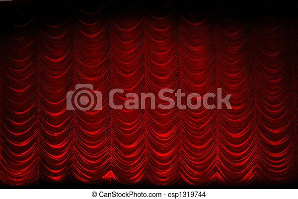 theatre curtain - csp1319744