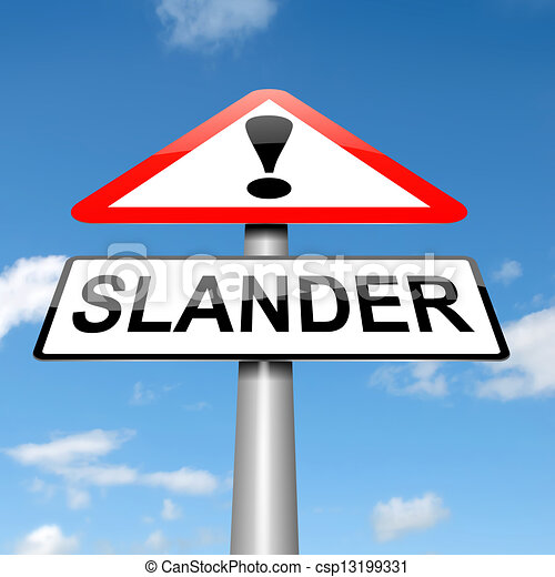 Drawings of Slander concept. - Illustration depicting a ...