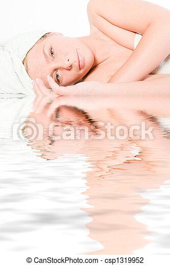 Wellness girl series laying down seeing