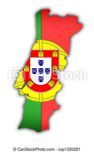 Clipart de carte drapeau portugal drapeau et carte de portugal csp1320281 - Dessin drapeau portugal ...