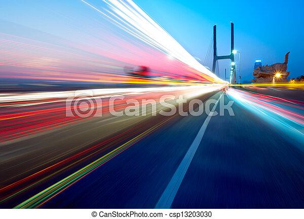 Bridges and light trails - csp13203030