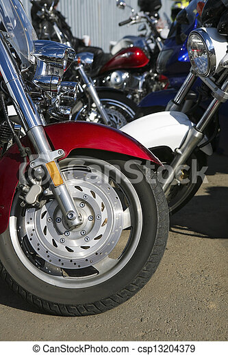 motorcycles on parking - csp13204379