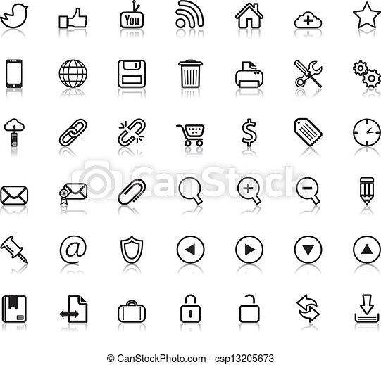 web, sociaal, iconen - csp13205673