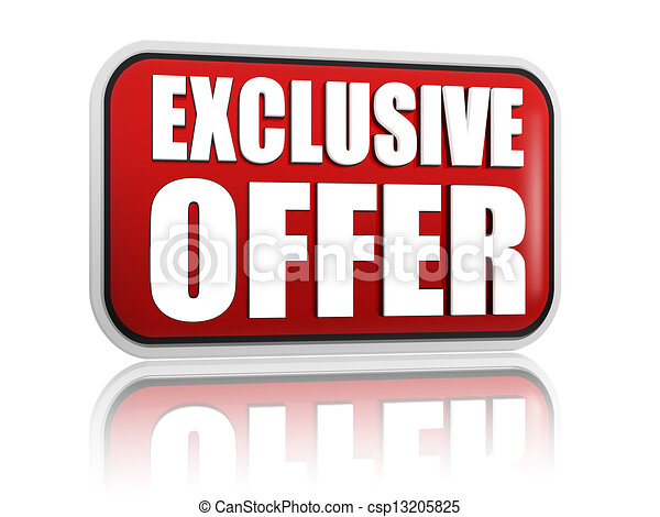 exclusive offer red banner - csp13205825