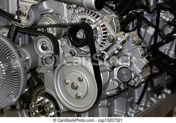Detail of the car engine - csp13207321