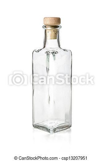 vacío, licor, botella - csp13207951