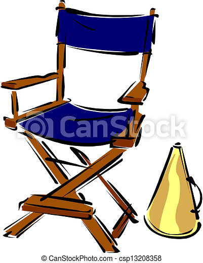 Directors chair vector - Clipart Vector Of Director S Chair Csp13208358 Search