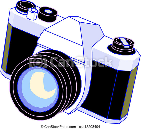 Clipart Vecteur De Appareil Photo Camera Csp13208404