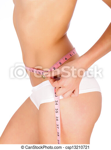 Measuring Tape On Woman Body - csp13210721
