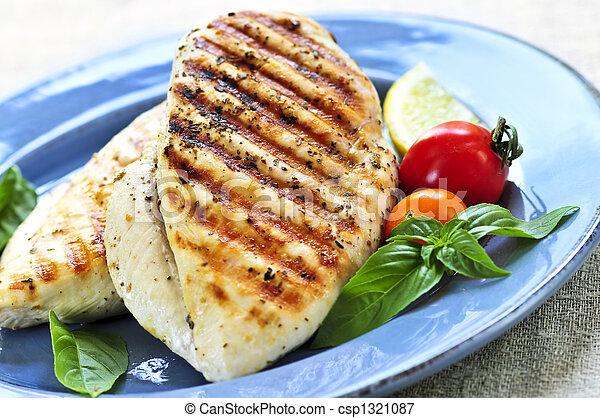 Grilled chicken breasts - csp1321087