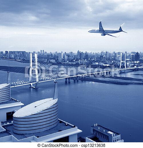 Bridges and aircraft - csp13213638