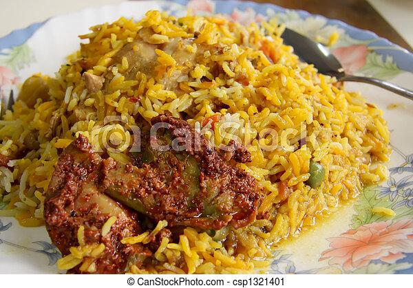 photographies de indien riz pic plat indien riz traditionnel csp1321401. Black Bedroom Furniture Sets. Home Design Ideas