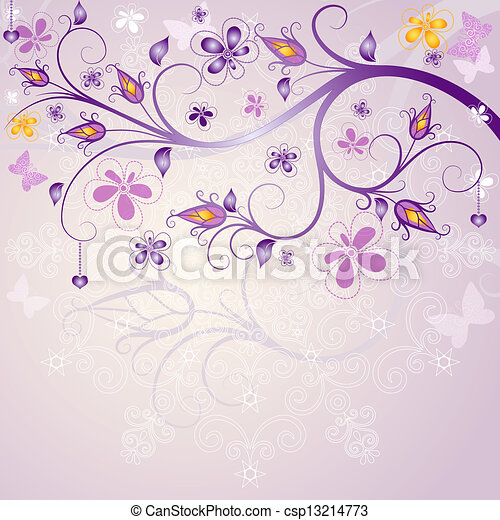 Spring pink easter frame - csp13214773