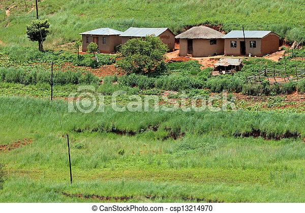 Rural settlement - csp13214970