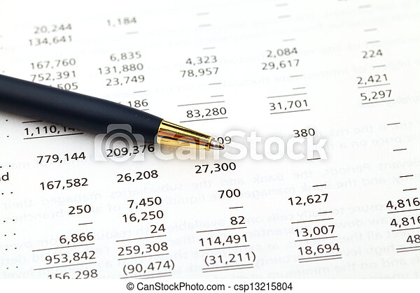 accounting financial data - csp13215804