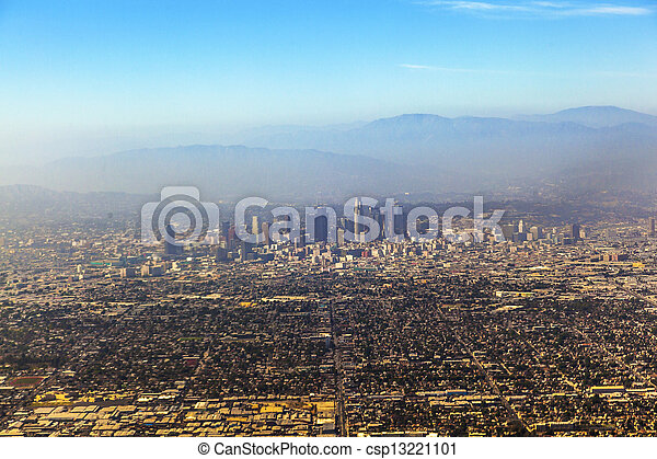 aerial of Los Angeles - csp13221101